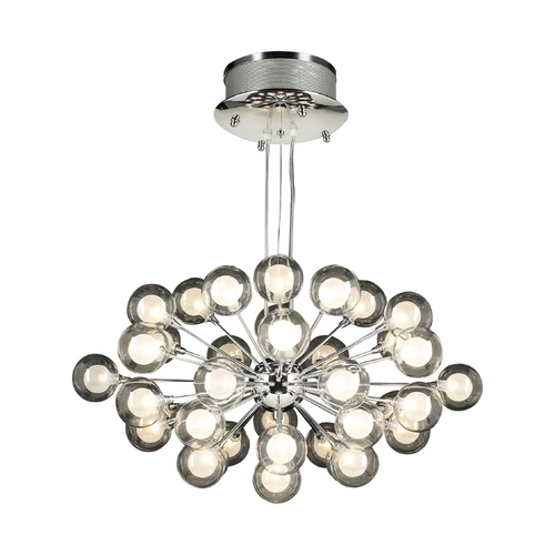 PLC Lighting Modern Pendant Light in Polished Chrome Finish 72108 PC