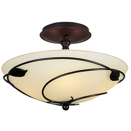 Hubbardton Forge Lighting Two-Light Semi-Flush Ceiling Light 126712-03-G48