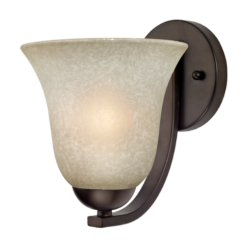 Design Classics Lighting Sconce with Caramel Glass in Bronze Finish 585-220 GL9222-CAR