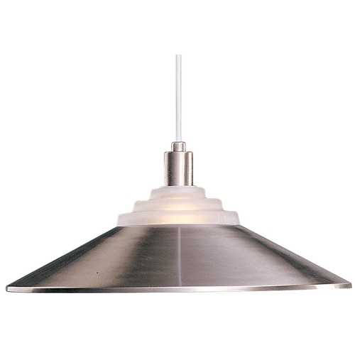 Dolan Designs Lighting Pendant Light with Metal Shade in Satin Nickel 100-09