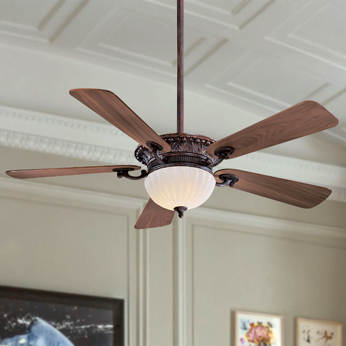 Minka Aire 52-Inch Ceiling Fan with Five Blades and Light Kit F702-VB