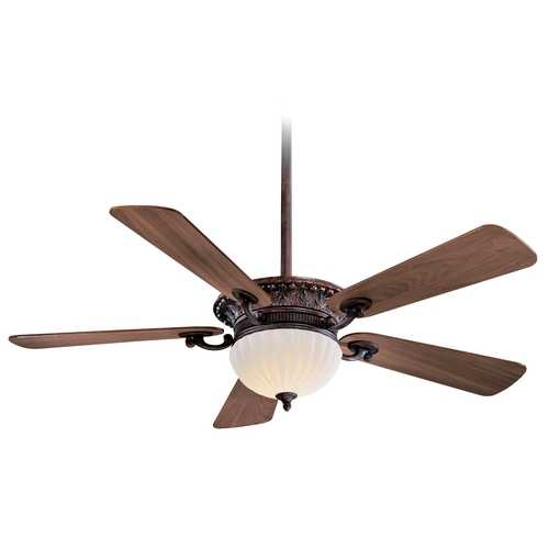Minka Aire Ceiling Fan with Five Blades and Light Kit F702-VB