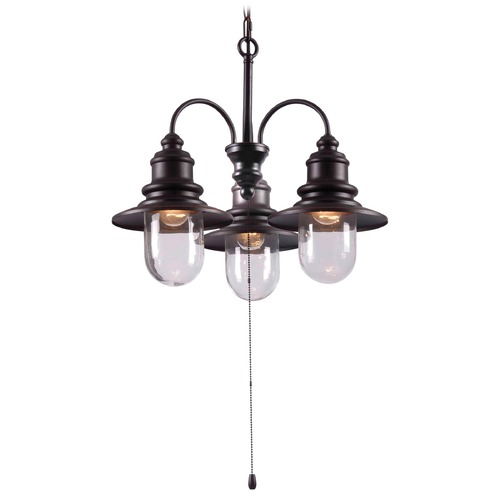 Kenroy Home Lighting Kenroy Home Lighting Broadcast Oil Rubbed Bronze with Copper Highlights Outdoor Chandelier 93033ORB