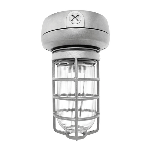 RAB Electric Lighting Close To Ceiling Light with Clear Glass in Silver Finish - 13W VX1F13S