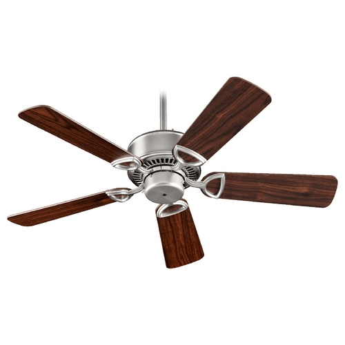Quorum Lighting Quorum Lighting Estate Satin Nickel Ceiling Fan Without Light 43425-65