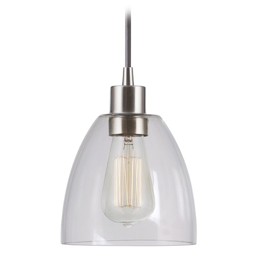Kenroy Home Lighting Kenroy Home Lighting Edis Brushed Steel Mini-Pendant Light 92100BS