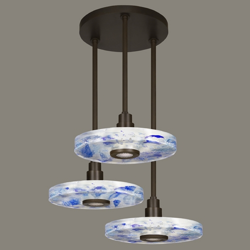 Fine Art Lamps Fine Art Lamps Crystal Bakehouse Bronze Multi-Light Pendant with Drum Shade 823640-12ST