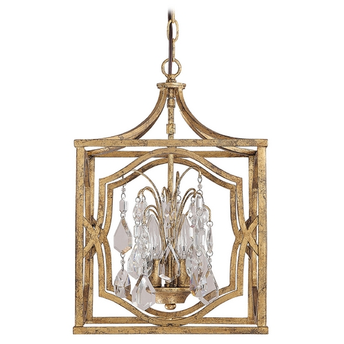 Capital Lighting Capital Lighting Antique Gold Pendant Light 9481AG-CR