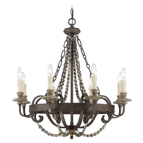 Savoy House Savoy House Fossil Stone Chandelier 1-7401-8-39