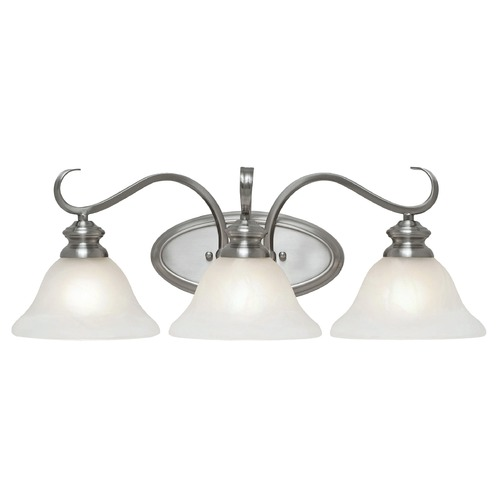 Golden Lighting Golden Lighting Lancaster Pewter Bathroom Light 6005-BA3 PW