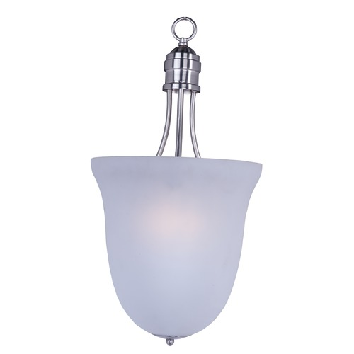 Maxim Lighting Maxim Lighting Logan Satin Nickel Pendant Light with Bowl / Dome Shade 10048FTSN