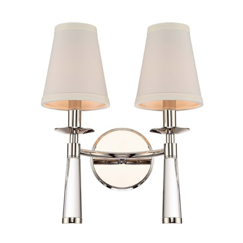 Crystorama Lighting Crystorama Lighting Baxter Polished Nickel Sconce 8862-PN