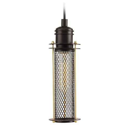 Progress Lighting Progress Lighting Industrial Antique Bronze Mini-Pendant Light with Cylindrical Shade P5326-20