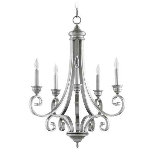 Quorum Lighting Quorum Lighting Bryant Classic Nickel Chandelier 6054-5-64