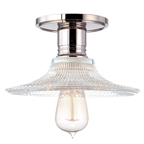 Hudson Valley Lighting Semi-Flushmount Light with Clear Glass in Polished Nickel Finish 8100-PN-GS6