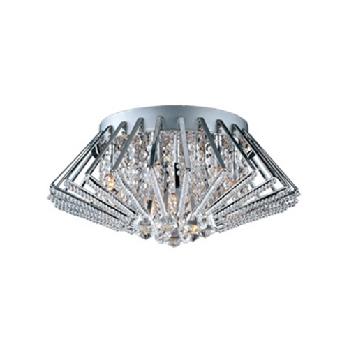 ET2 Lighting Modern Flushmount Light in Polished Chrome Finish E20400-20PC