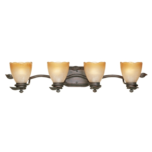 Designers Fountain Lighting Bathroom Light with Beige / Cream Glass in Old Bronze Finish 95604-OB