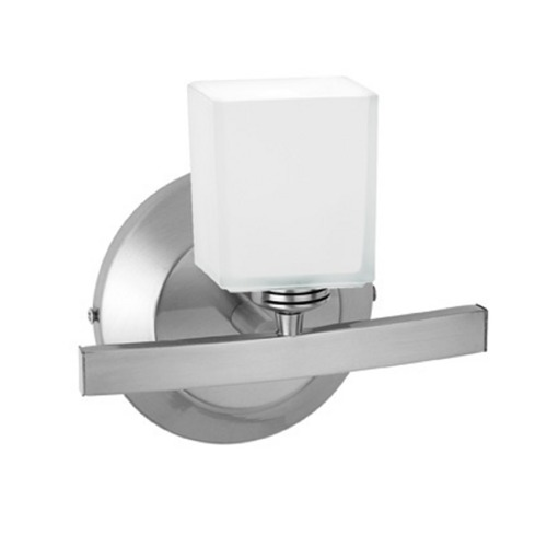 Access Lighting Modern Sconce Light with White Glass in Matte Chrome Finish 63811-18-MC/OPL