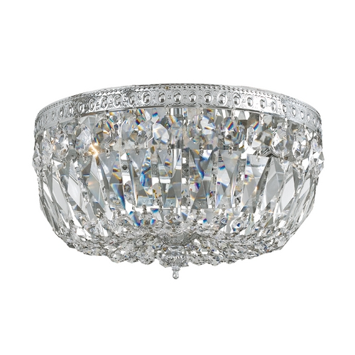 Crystorama Lighting Crystal Flushmount Light in Polished Chrome Finish 712-CH-CL-SAQ