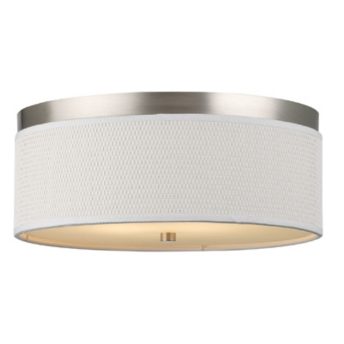 Philips Lighting 14-7/8 Inch Flushmount Drum Shade Ceiling Light F615036NV