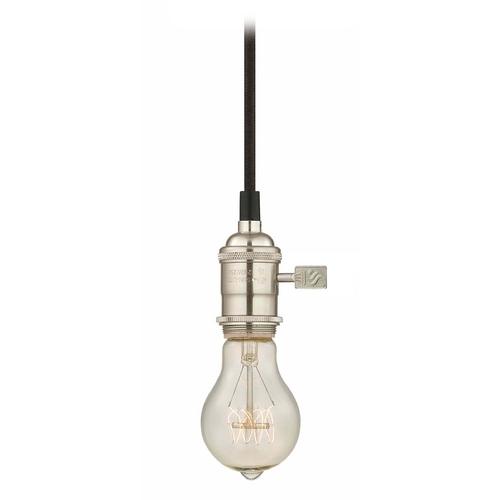nostalgic bare bulb socket mini pendant light with 25 watt edison bulb. Black Bedroom Furniture Sets. Home Design Ideas