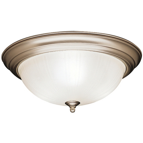 Kichler Lighting Kichler Flushmount Light with White Glass in Brushed Nickel Finish 8655NI