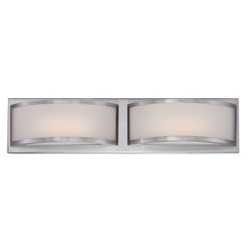Nuvo Lighting Modern LED Bathroom Light with White Glass in Brushed Nickel Finish 62/318