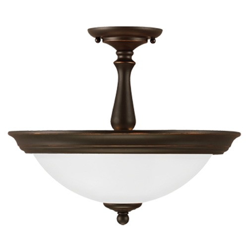 Sea Gull Lighting Sea Gull Lighting Northbrook Roman Bronze Semi-Flushmount Light 7712402-191