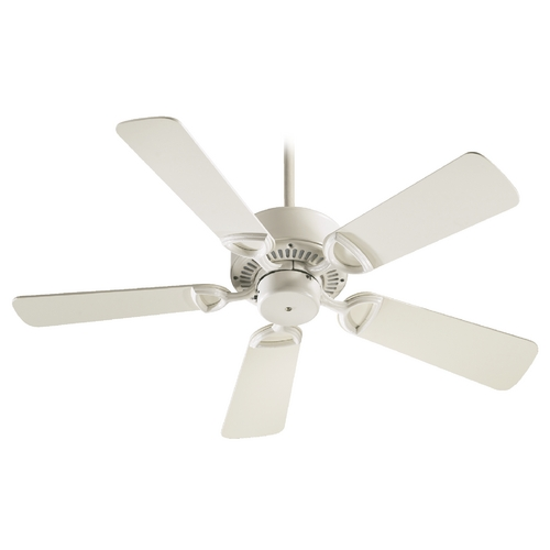 Quorum Lighting Quorum Lighting Estate Antique White Ceiling Fan Without Light 43425-67