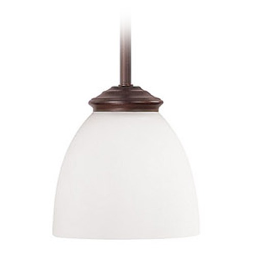 Capital Lighting Capital Lighting Chapman Burnished Bronze Mini-Pendant Light with Bowl / Dome Shade 3941BB-202