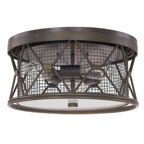 Capital Lighting Capital Lighting Jackson Oil Rubbed Bronze Flushmount Light 4895OR