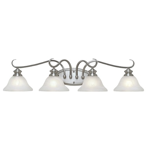 Golden Lighting Golden Lighting Lancaster Pewter Bathroom Light 6005-BA4 PW