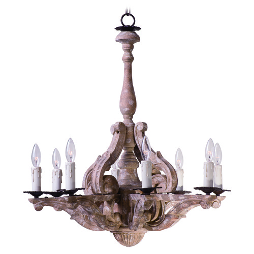 Maxim Lighting Maxim Lighting International Olde World Senora Wood Chandelier 39617SW