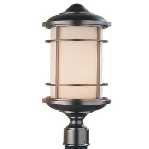 Feiss Lighting Post Lighting with White Glass in Burnished Bronze Finish OL2207BB