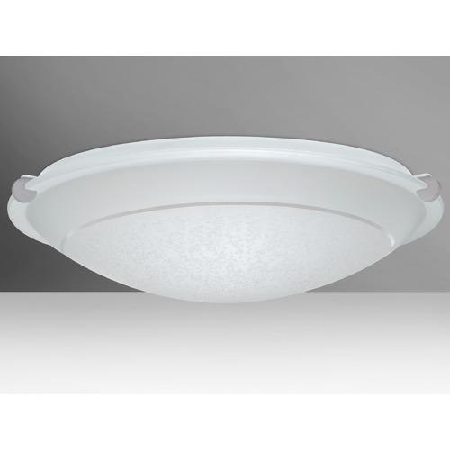 Besa Lighting Besa Lighting Trio Satin Nickel LED Flushmount Light 9680SFR-LED-SN