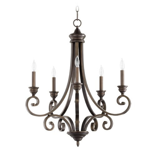 Quorum Lighting Quorum Lighting Bryant Oiled Bronze Chandelier 6054-5-86