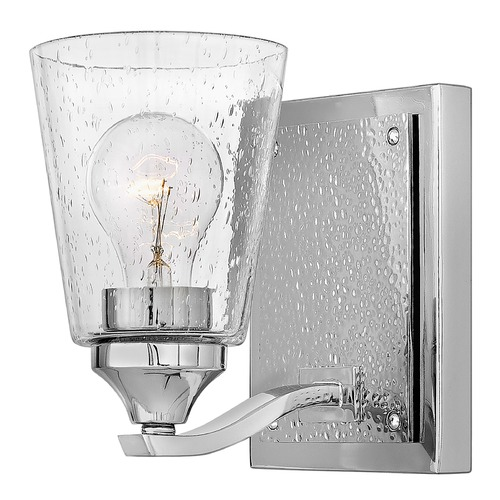 Hinkley Hinkley Jackson Polished Nickel Sconce with Clear Seeded Glass 51820PN