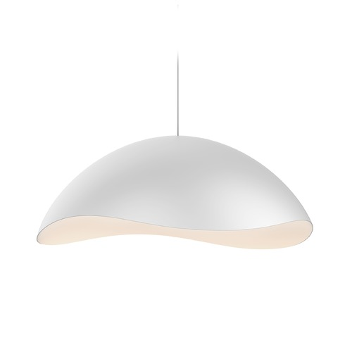 Sonneman Lighting Sonneman a Way of Light Waveforms Satin White LED Pendant Light with Bowl / Dome Shade 2673.03W
