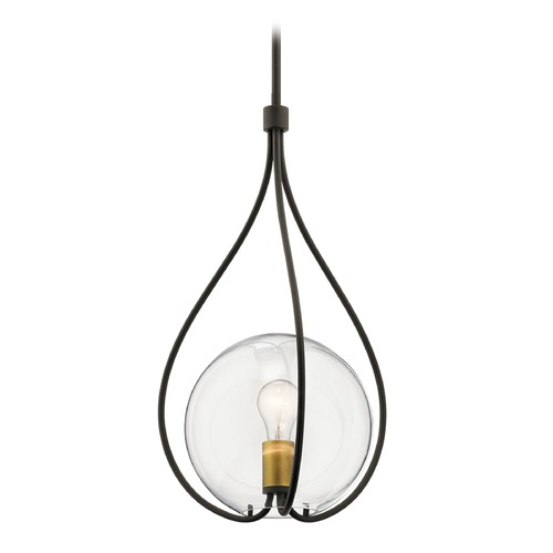 Kichler Lighting Transitional Pendant Light Olde Bronze Lynne by Kichler Lighting 42494OZ