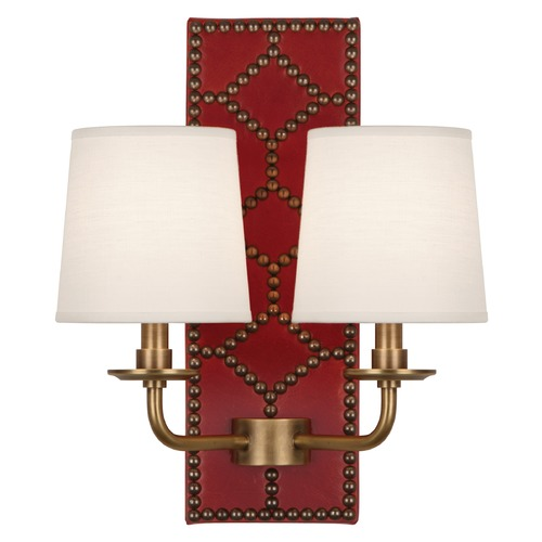 Robert Abbey Lighting Robert Abbey Lighting Williamsburg Lightfoot Wall Sconce with Fondine Fabric Shades 1031