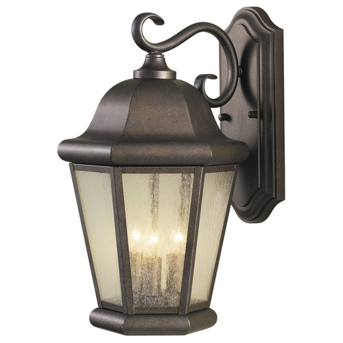 Home Solutions by Feiss Lighting Outdoor Wall Light with Clear Glass in Corinthian Bronze Finish OL5902CB