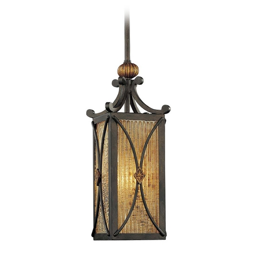 Metropolitan Lighting Mini-Pendant Light with Brown Glass N6033-159