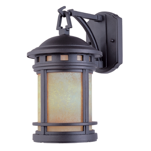 Designers Fountain Lighting Outdoor Wall Light with Amber Glass in Oil Rubbed Bronze Finish 2391-AM-ORB