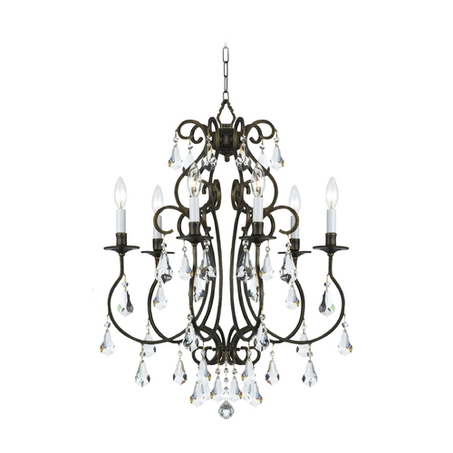 Crystorama Lighting Crystal Mini-Chandelier in English Bronze Finish 5016-EB-CL-MWP