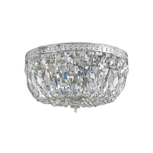Crystorama Lighting Crystal Semi-Flushmount Light in Polished Chrome Finish 714-CH-CL-MWP