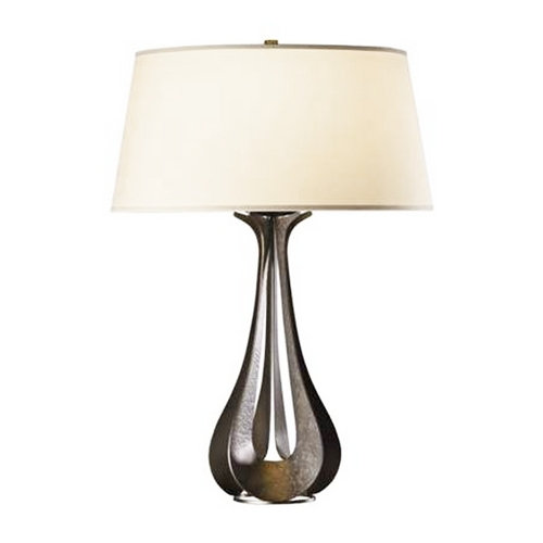 Hubbardton Forge Lighting Forged Iron Table Lamp with Drum Shade 273085-07-716