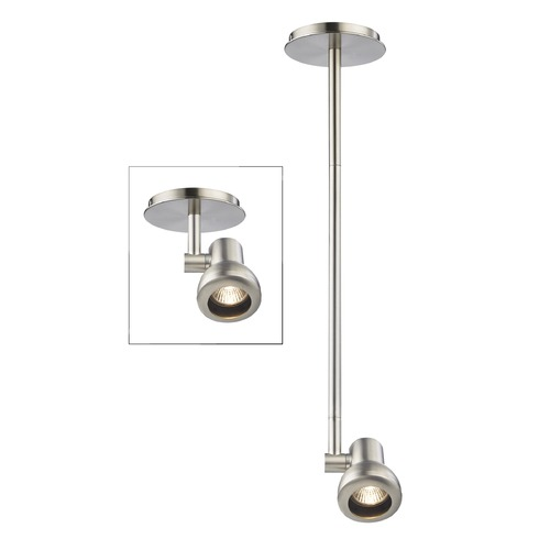 Recesso Lighting by Dolan Designs Track Head Adjustable Monopoint - Satin Nickel - GU10 Base TR0311-SN
