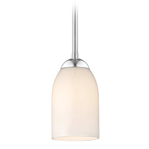 Design Classics Lighting Design Classics Gala Fuse Chrome LED Mini-Pendant Light with Bowl / Dome Shade 681-26 GL1028D