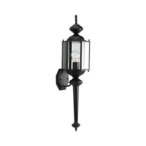 Progress Lighting Progress Outdoor Wall Light with Clear Glass in Black Finish P5831-31