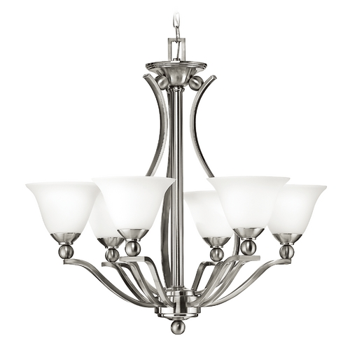 Hinkley Lighting Six-Light Transitional Style Chandelier 4656BN